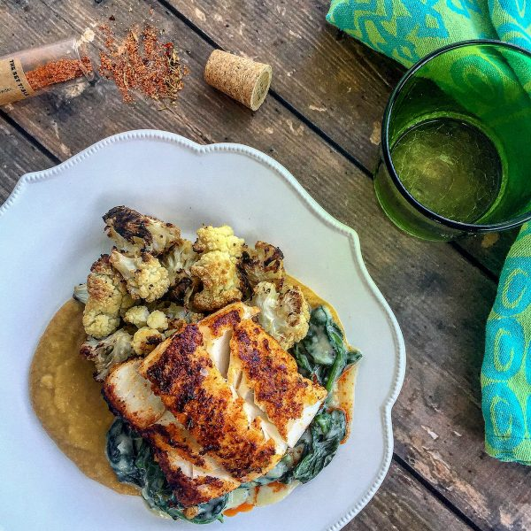 Recipes-To-Make-The-Most-Out-Of-Peach-Season_Cajun-Dusted-Cod-with-Peach-Ginger-Sauce_Christina-Carter