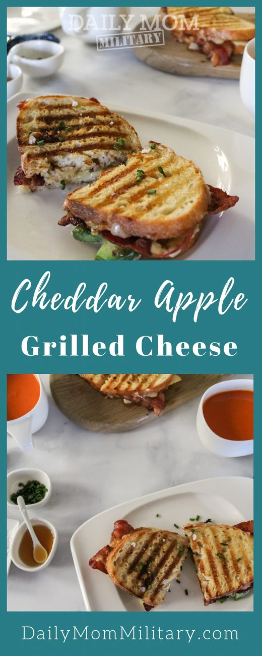 Cheddar Apple Grilled Cheese pin image