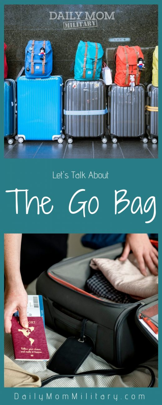 Let's Talk About the Military Go Bag military go bag