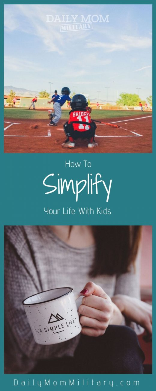 how to simplify your life with kids