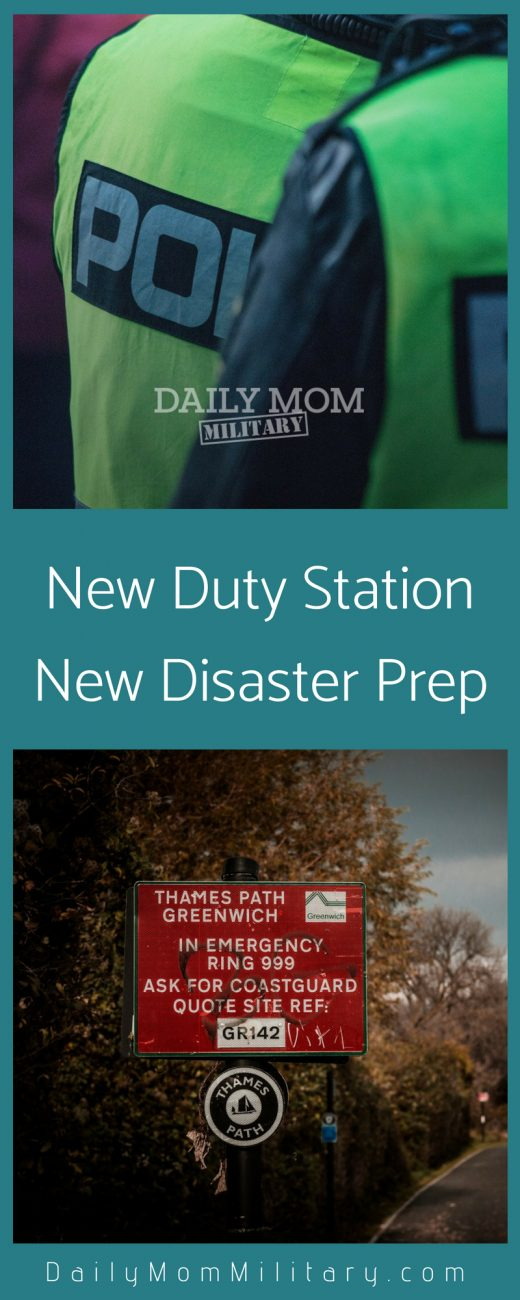 new duty station new disaster prep