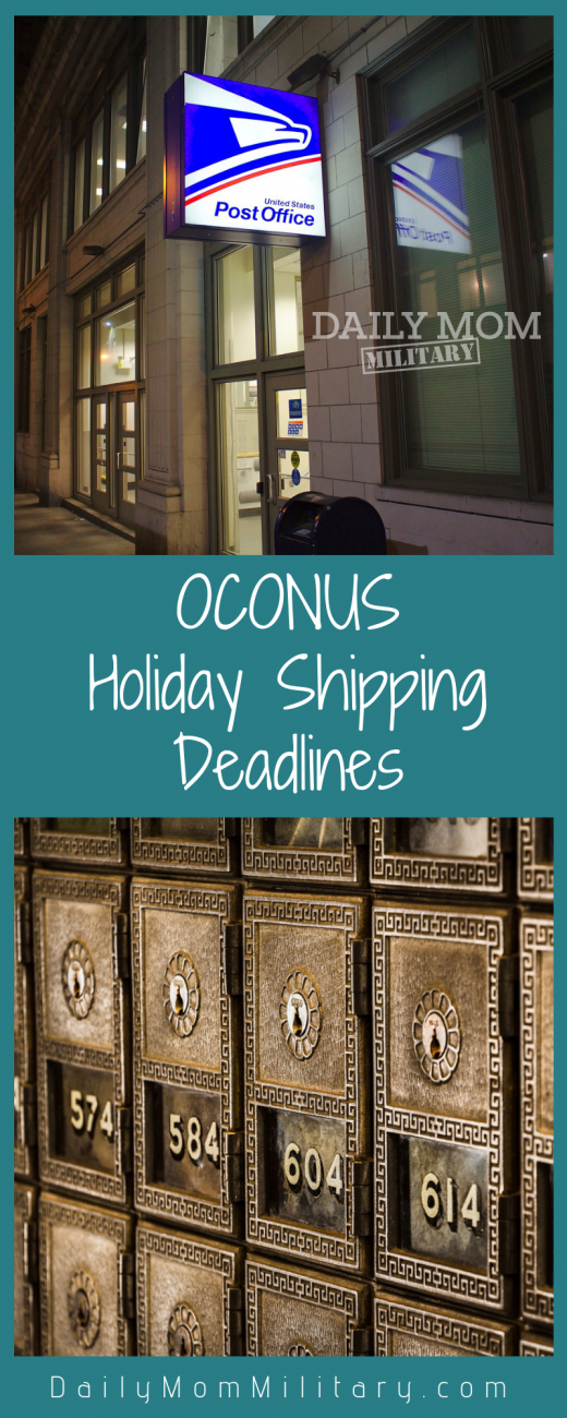 OCONUS Holiday Shipping Deadlines 2018