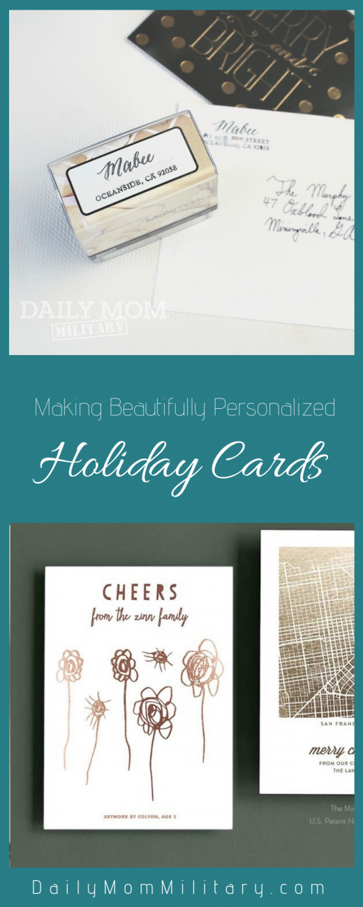 making beautifully personalized holiday cards