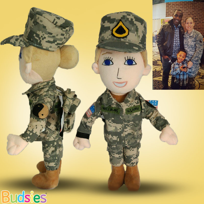 Budsies Military Mommy & Daddy Doll