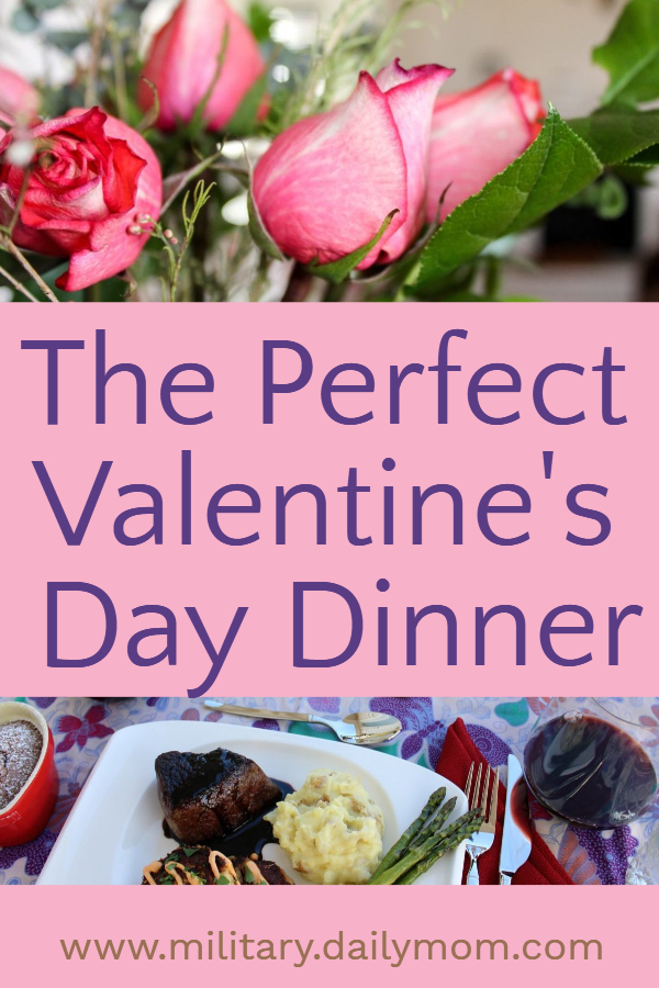the perfect valentines day dinner pin