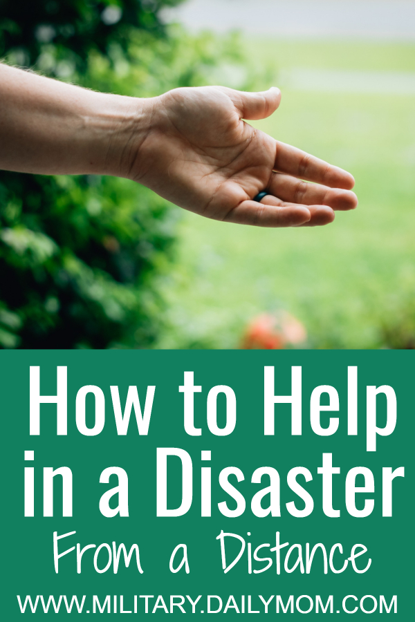 how to help in a disaster