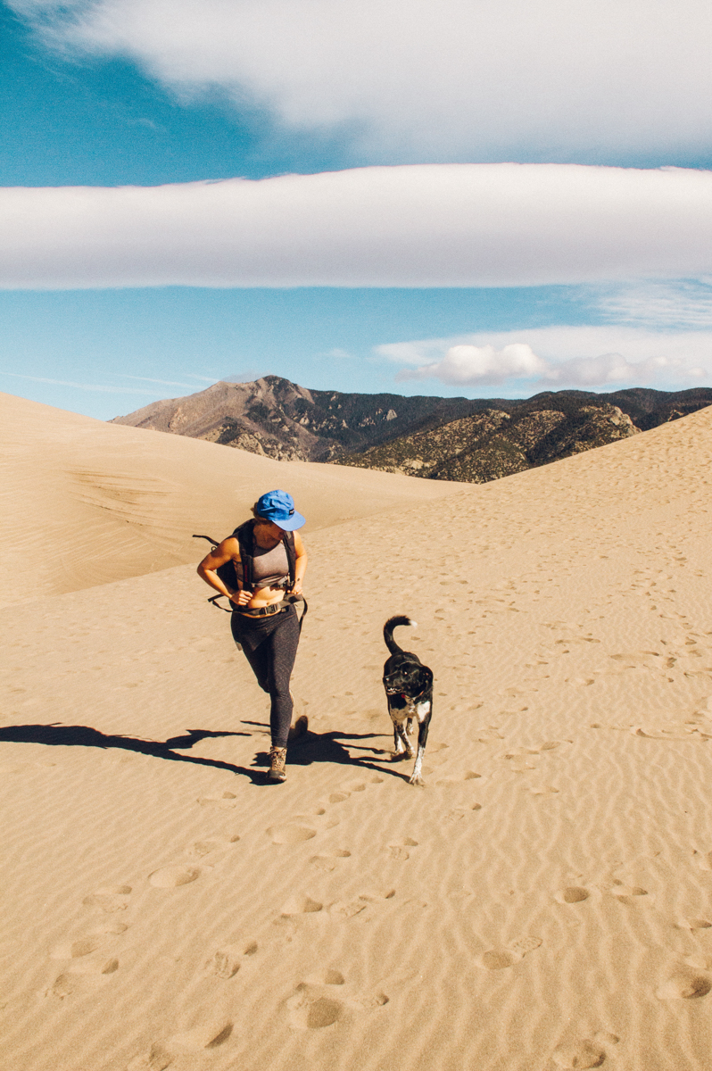 running with dogs. holly mandarich