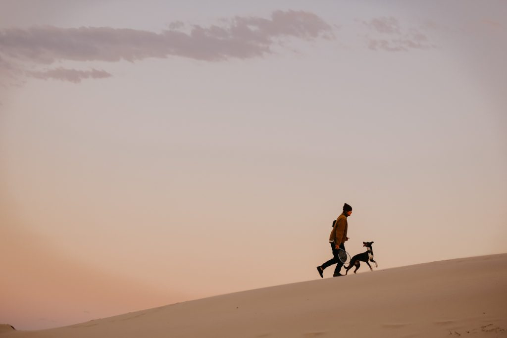 running with dogs. paula may