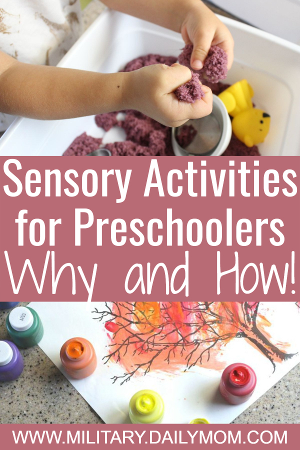 sensory activities for preschoolers why and how