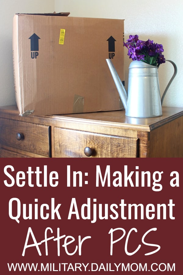 Settle In Make A Quick Adjustment After Pcs